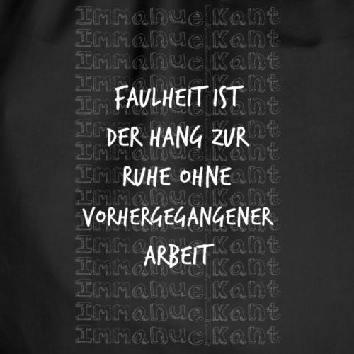 Faulheit Immanuel Kant Zitat Spruch Geschenk Idee - Turnbeutel