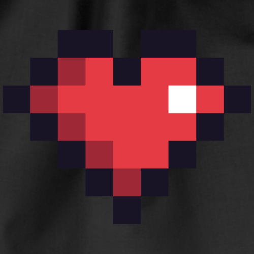 Pixel Heart - Drawstring Bag