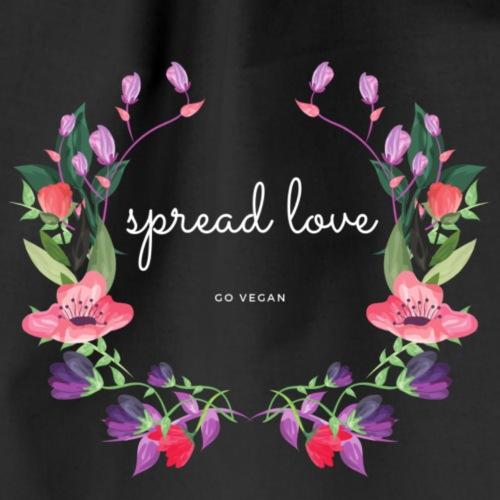 spread love - go vegan - Turnbeutel
