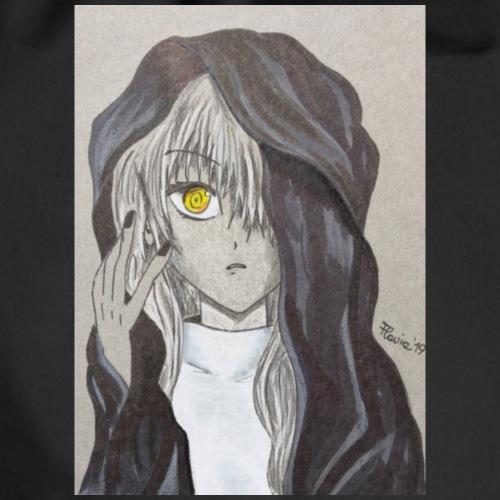 Ragazza manga noir - Sacca sportiva