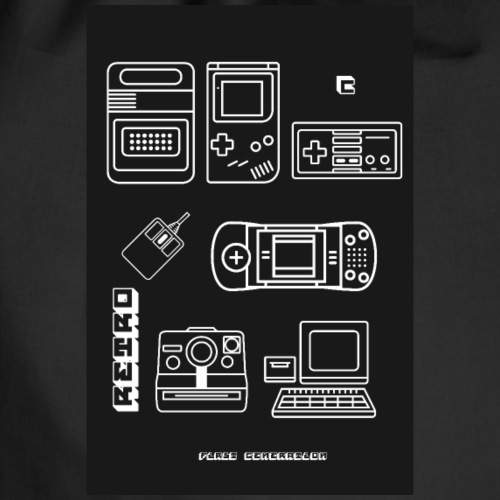 poster retro games konsole nerd 8bit pc spiele LOL - Turnbeutel