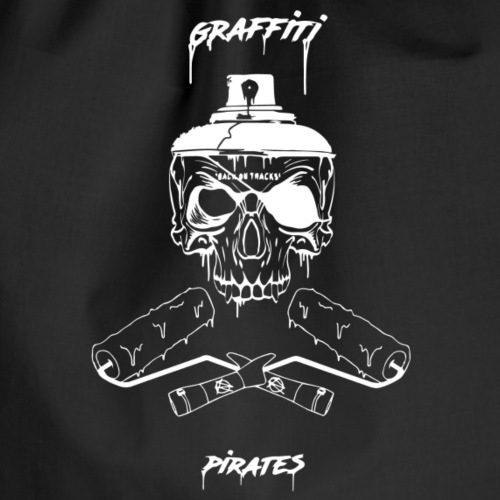 graffiti piratess white - Sacca sportiva