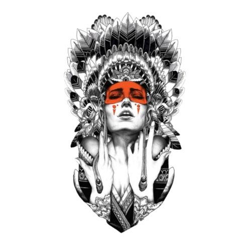 Mujer nativa - Mochila saco