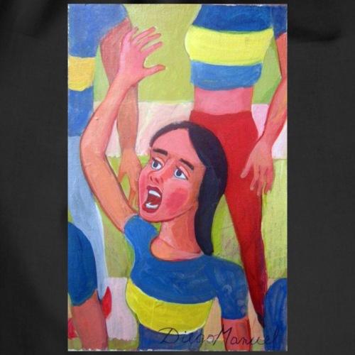 chica fan del fúbol - Mochila saco