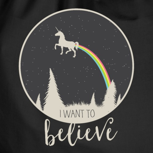 i want to believe - Turnbeutel