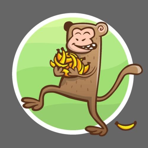 Affe mit Bananen - Turnbeutel