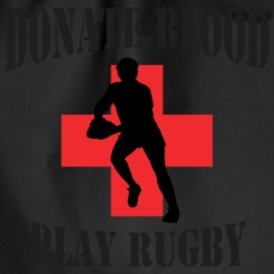 Rugby Donate Blood Play Rugby - Drawstring Bag