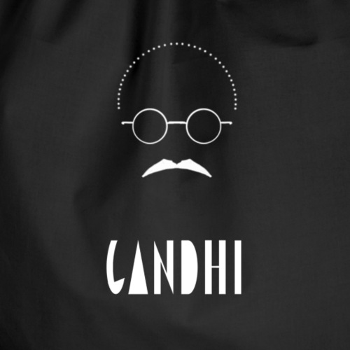 gandhi - Drawstring Bag
