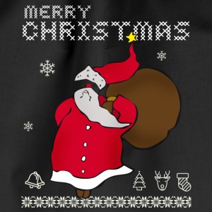santa claus Santa Claus ugly Design Xmas - Drawstring Bag