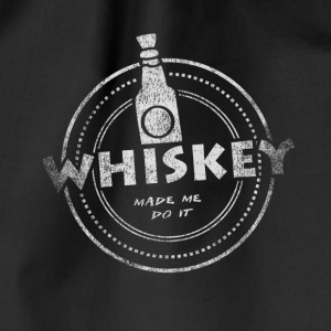 Whiskey Made Me Do It T-Shirt - Turnbeutel