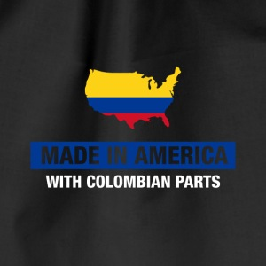 Made In America med colombianske Parts Colombia Flag - Sportstaske