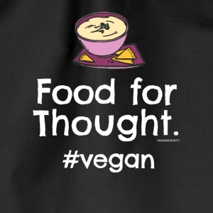 "Végétalien T-shirt ""Food for Thought. #vegan"" - Sac de sport léger"