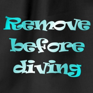 remove before diving - Gymtas