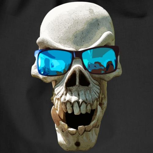 single skull big glasses - Drawstring Bag