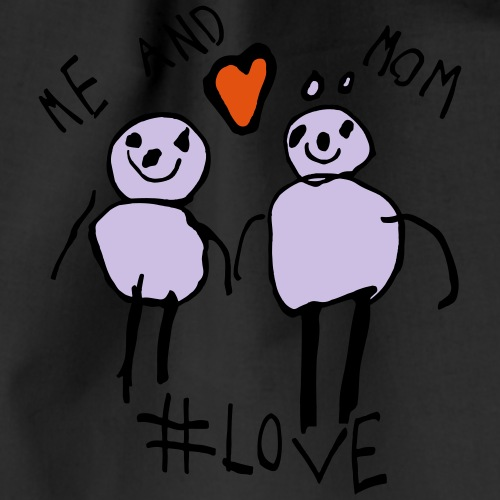 Me and Mom #Love - Drawstring Bag