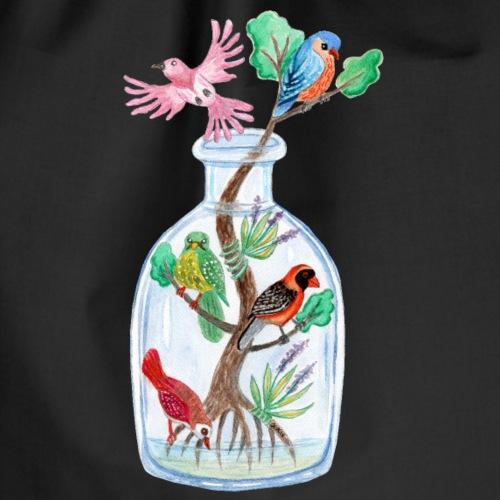 Lintujen Maailma Pullossa Vesiväri - Jumppakassi