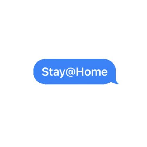 stayhome text - Turnbeutel