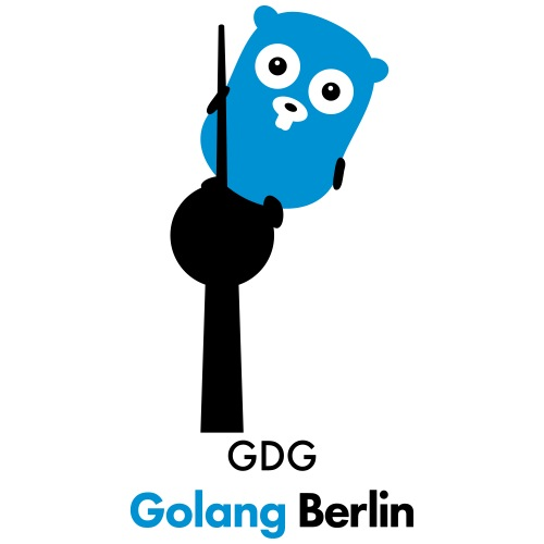 GDG Golang Berlin dark - Turnbeutel