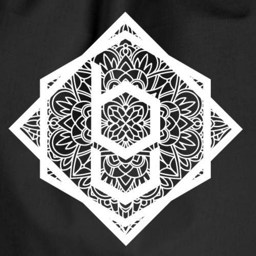 logo mandala bianco - Sacca sportiva