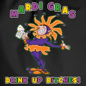 Mardi Gras Drink Up Bitches - Gymbag
