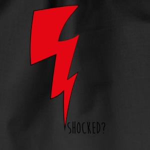 shocked red - Drawstring Bag