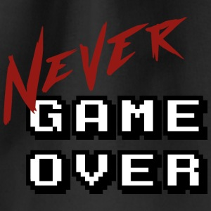 Big_Never_game_Over_white - Mochila saco