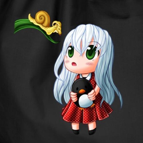 Kati & die Drachenschnecke von Akemie - Turnbeutel