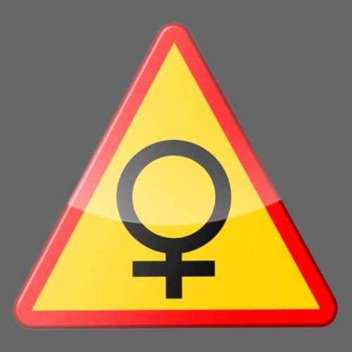 Varning för kvinna! Warning - woman! - Gymnastikpåse
