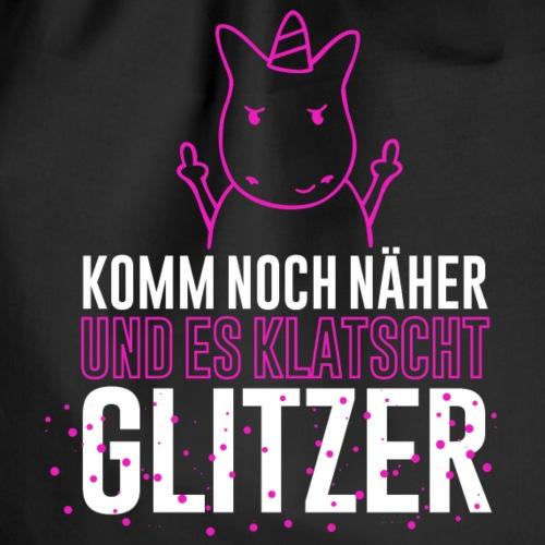 Einhorn - klatscht Glitzer - Turnbeutel