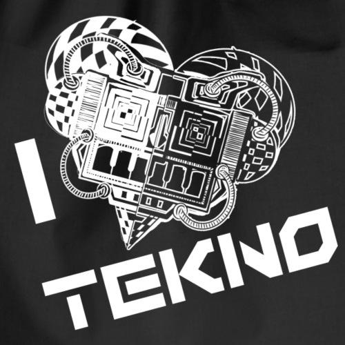 i love tekno - tekno conspiracy - rave wear - Sac de sport léger