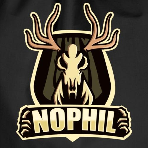 NoPhil Mascot Logo+ Name - Turnbeutel