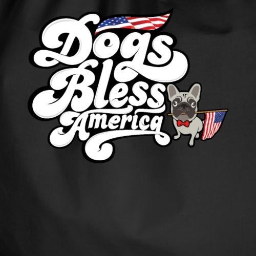 Mops Möpse Hunde segnen Amerika - Turnbeutel