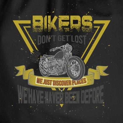 Biker gehen nicht verloren, sie entdecken Neues - Turnbeutel