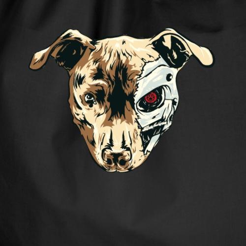 Der Terminahund ist das Haustier vom Terminator - Turnbeutel