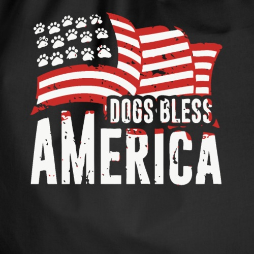 Hund und Hunde segnen Amerika Illustration - Turnbeutel