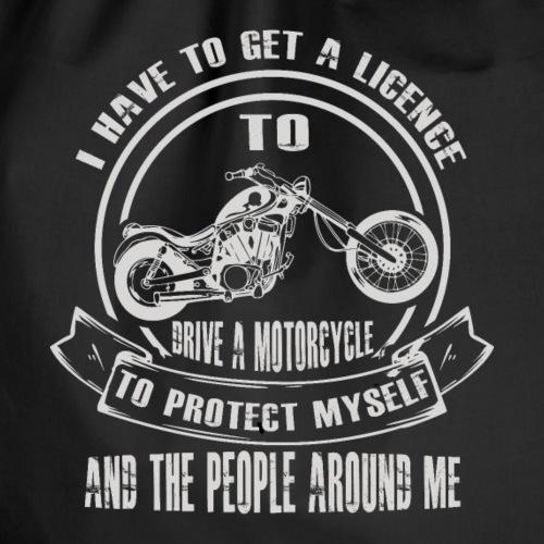 Motorrad Motorradfahrer Sicherheit Führerschein - Turnbeutel