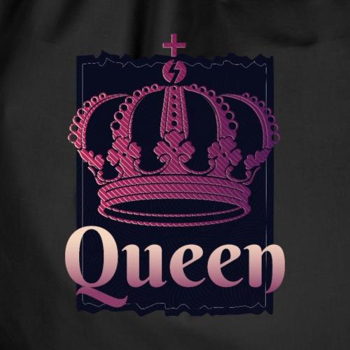 Dunkle Königin König Krone - Turnbeutel