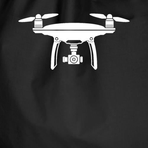 Drone Symbol Dronenpilot fliegen Technik - Turnbeutel