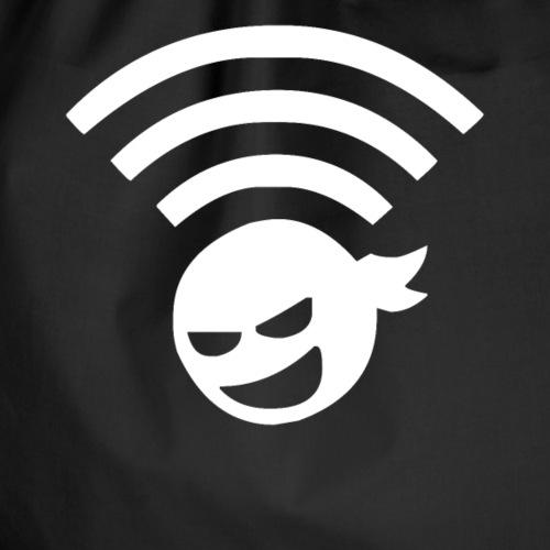 Wifi Ninja Symbol Wlan Internet Verbindung - Turnbeutel