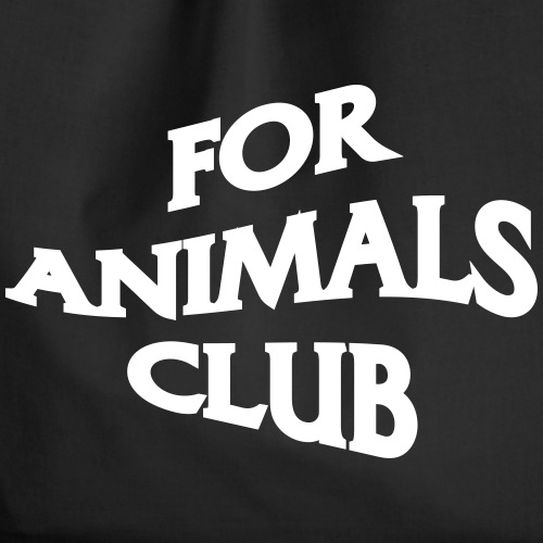 For Animals Club - Drawstring Bag