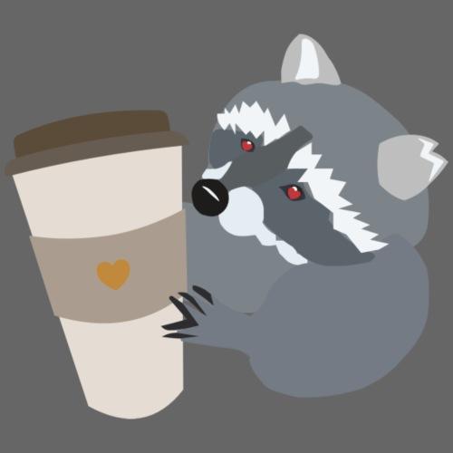 Waschbär liebt Kaffee - Turnbeutel