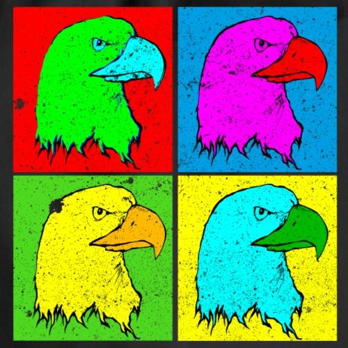 Adler Adlerkopf Vier Farben Tshirt - Turnbeutel