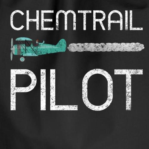Chemtrail Pilot Politik Lustig Shirt - Turnbeutel