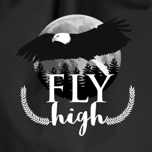 Eagle Fliy High Full Moon Forest Tshirt - Turnbeutel