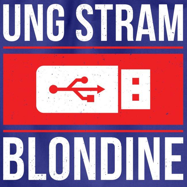 Ung Stram Blondine - Hvid