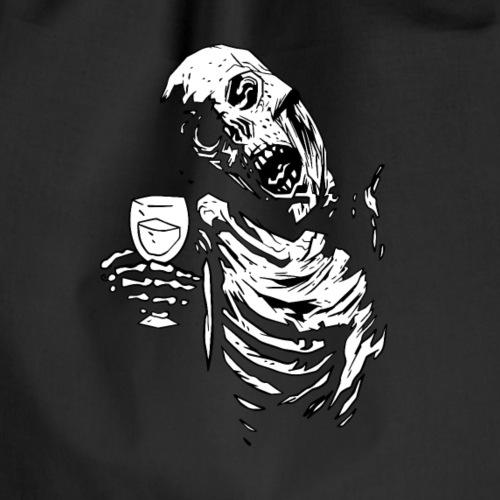 Drunk Skeleton - Drawstring Bag