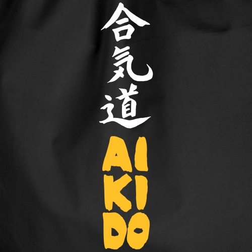 aikido kanji bicolor - Mochila saco