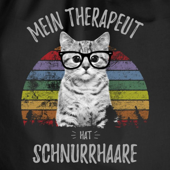 Vorschau: Therapeut Katze - Turnbeutel