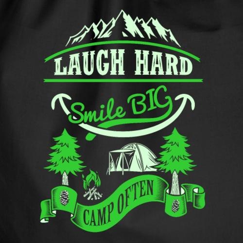 smile big camp often - funny Camper T-Shirt