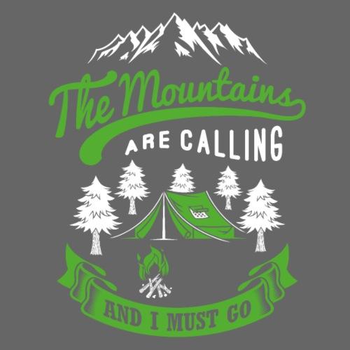 Der Berg ruft - ich muss - Wanderer Bergsteiger - Turnbeutel